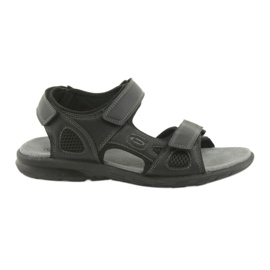 American Club American HL06 black sports sandals sort