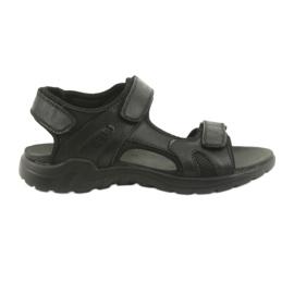 American Club Amerikanske lædersports sandaler CY11 sort
