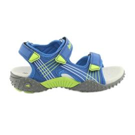 Sandałki chłopięce American Club HL16 blå / lime