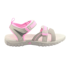 Piger sandaler American Club grå / pink