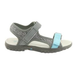 Sandaler med læderindsats American Club RL10 grå / blå