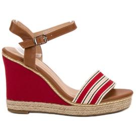Primavera rød Casual wedge sandaler