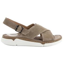 Filippo brun Læder sandaler på platformen