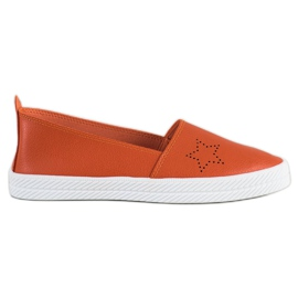 Kylie appelsin Slip-on sneakers