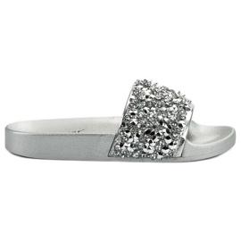 Seastar grå Elegant Sølv Tøfler
