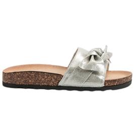 Queen Vivi grå Casual Flip Flops Med Brocade