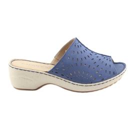 Blå Dame tøfler koturno Caprice 27351 jeans