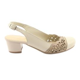 Brun Gregors 771 beige kvinders sandaler