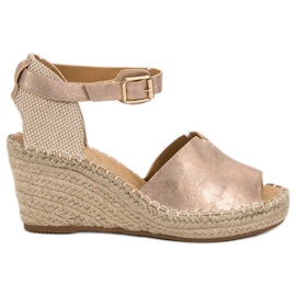 Evento pink Casual wedge sandaler