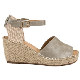 Evento grå Casual wedge sandaler