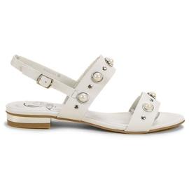 Kylie hvid Komfortable flade sandaler
