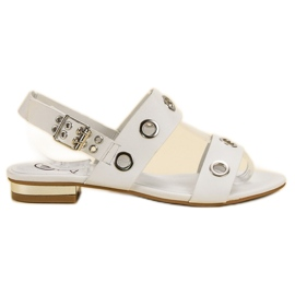 Kylie Casual White Sandals hvid