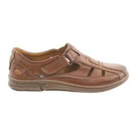 Riko 458 brune mænds comfort sandaler