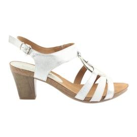 Caprice kvinders sandaler med udsmykning 28308 sølv oval