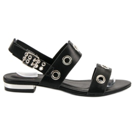 Kylie sort Casual Black Sandals