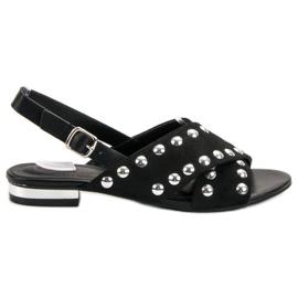 Kylie Sorte sandaler fastgjort med et spænde