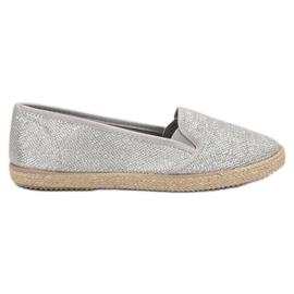 Balada grå Sølv Slipons