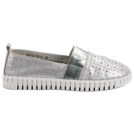 Filippo grå Slip-on Fodtøj Med Brocade
