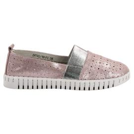 Filippo pink Slip-on Fodtøj Med Brocade