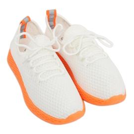 Sportssko hvid og orange NB283 Fluorescens Orange