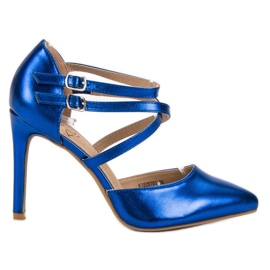 Kylie blå Skinnende Fashion Studs