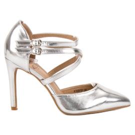 Kylie grå Skinnende Fashion Studs