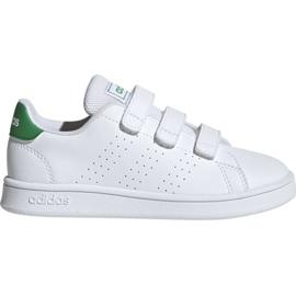 Hvid Adidas Advantage C Jr EF0223 sko