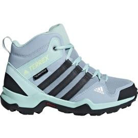 Blå Adidas Terrex AX2R Mid Cp Jr BC0672 sko