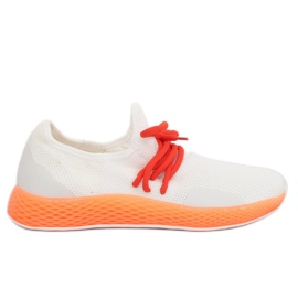 Sportssko hvid-orange B-6851 Orange