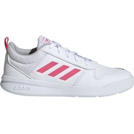 Hvid Adidas Tensaur K Jr. EF1088 sko
