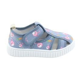 American Club Amerikanske sko børns sko med velcro inlay læder