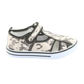 American Club børns sko med velcro inlay læder