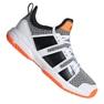 Adidas Stabil Jr F33830 håndboldsko hvid, sort grå