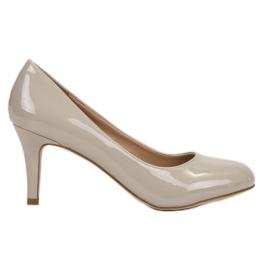 Small Swan brun Lakkerede pumper på høj hæl
