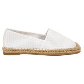 Ideal Shoes hvid Suede Slip Shoes