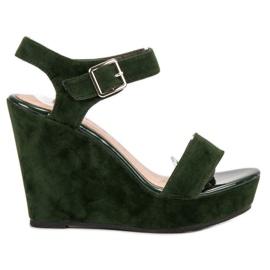 Vinceza grøn Suede Sandaler