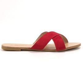 Primavera rød Komfortable flade tøfler