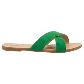 Primavera grøn Komfortable flade tøfler