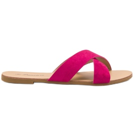 Primavera pink Komfortable flade tøfler