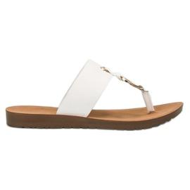 Hvid Stilfuld VINCEZA flip-flops