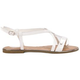 Anesia Paris hvid Lakerede flade sandaler