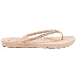 Seastar brun Flip-flops Med Zircons