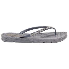 Seastar grå Flip-flops Med Zircons