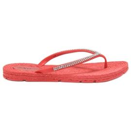 Seastar rød Flip-flops Med Zircons