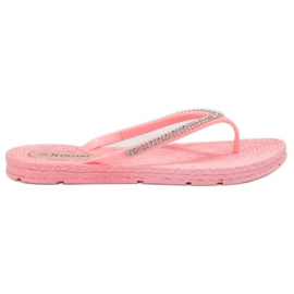 Seastar pink Flip-flops Med Zircons