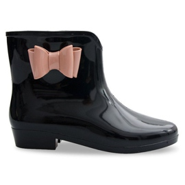Sort Galoshes Bows With Bow NEW2 Black
