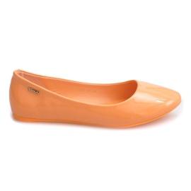 Appelsin Lakerede Ballerinas 11037 Orange