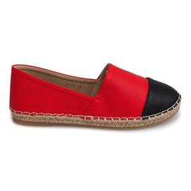 Rød Sneakers Espadrilles Linen LX116 Red