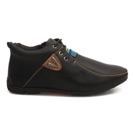 Sort High Warming Shoes Knotted WF622-3 Black