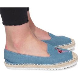 Blå espadrilles Flaming Jeans